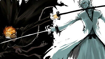 "010 Bleach - Dead Rukia Ichigo Fight Japan Anime 42""x24"" Poster"