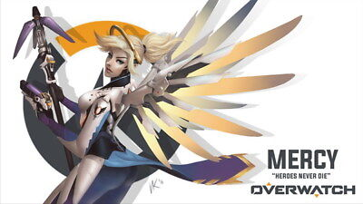 "008 Mercy - Overwatch Sexy Hero Online Hot Game Pinup 42""x24"" Poster"