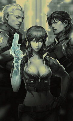 "031 Ghost In The Shell - Fight Riot Police Anime Hot Movie 24""x39"" Poster"