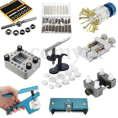 Watch Repair Tool Kit Back Case Opener Remover Closer Press Holder Spring Pin