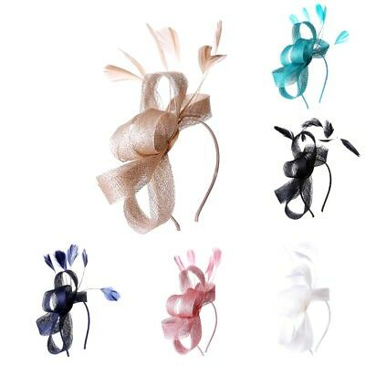 Ladies Feather Looped Fascinator Headband Alice Band Day Wedding Royal Ascot