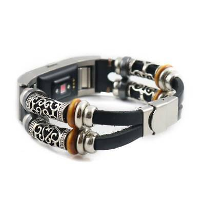 DIY Vintage Replacement Leather Wristband Bracelet Strap For Fitbit Charge 2