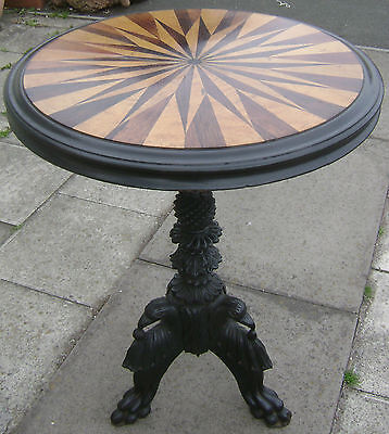 Antique Mid 19Thc Anglo Indian Specimen Wood Occasional Table