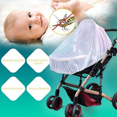 Infants Baby Stroller Pushchair Anti-Insect Mosquito Net Safe Mesh White SS