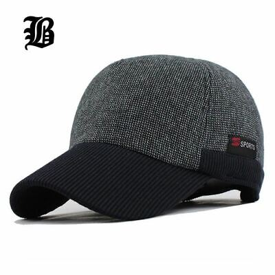 Thickened Baseball Cap With Ears Men's Cotton Hat Snapback Hats For Men Women