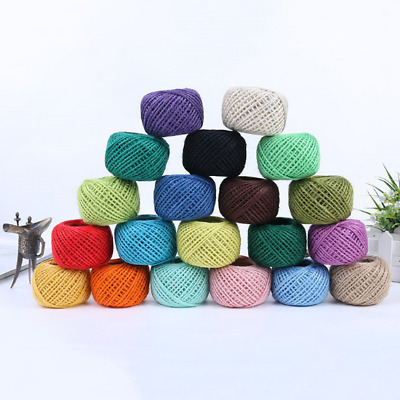 50m 2mm Cord String PICK Wrap Gift Link Tag Jute Burlap Ribbon Twine Rope New