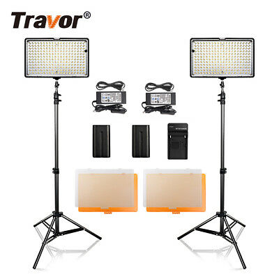 2 x Video 240LED Video Light Studioset Videoleuchte Lichtstativ kits Kameralicht