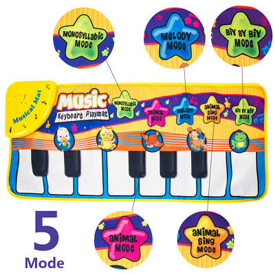 Kid Baby Musical Music Piano Play Mat Activity Play Toy Soft blanket
