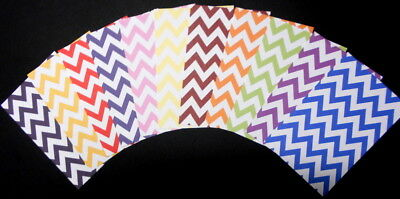 "11 x CHEVRON PATTERNED PAPERS  ~ Scrapbooking/Cardmaking ~ 15cm x 10cm (6"" X 4"")"