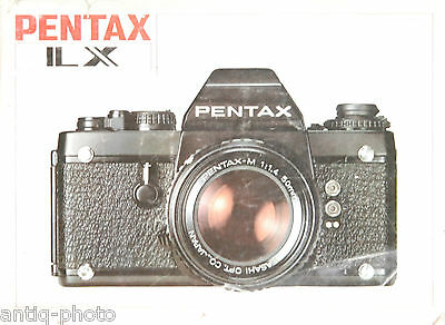 Instruction manual for Pentax ILX (Fr)