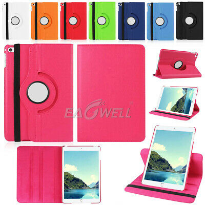 """For iPad 6th 9.7"""" 2018/2017 Mini Air Pro 360 Rotating Smart Leather Case Cover"""
