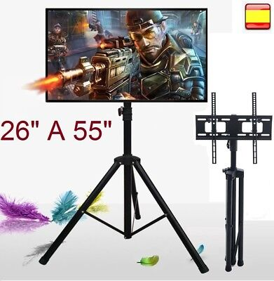 "Soporte para tv lcd led 4K smart 3D televisor 26"" a 55"" de suelo inclina y gira"