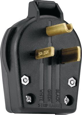 Eaton S42-SP Commercial Grade Angle Vinyl Power Plug with 30/50-Amp, 250-Volt,
