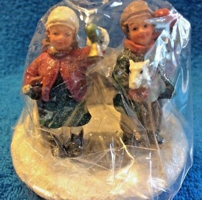 Children In The Snow Candle Jar Topper Capper
