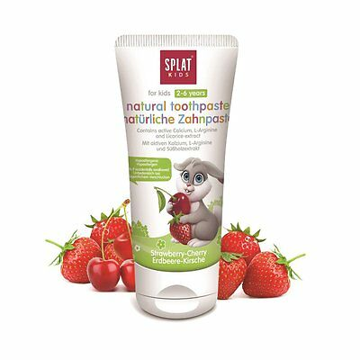 Splat Natural Toothpaste for Kids 50ml - 2-6 Years - Strawberry & Cherry Flavour