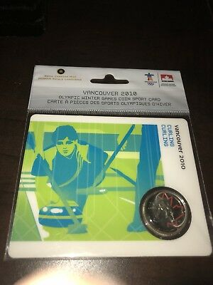 Royal Canadian Mint - Vancouver 2010 Olympics - Sealed Curing Coin 25 Cent
