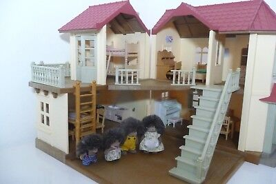 Sylvanian Families Beechwood Hall Spare Repair Bundle Light Balcony Garden Patio