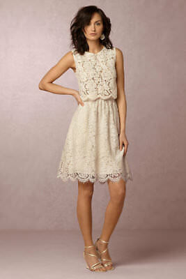 6337343bcee NEW  200 BHLDN Jenny Yoo Lydia Lace Skirt SOLD OUT color ivory