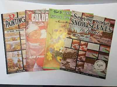 Lot of 4 Vintage Art Books Walter T. Foster Painting