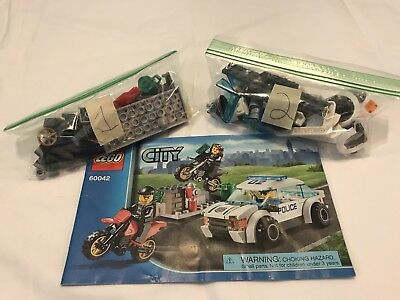 Lego City 60042 High Speed Police Chase W 3 Minifigs
