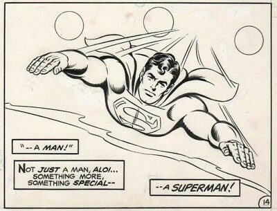 Action Comics #517 Page 14 Original Art Featuring Superman By Curt Swan RARE