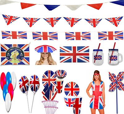 UNION JACK PARTY DECORATIONS Prince Harry Meghan Royal Wedding Celebrations UK