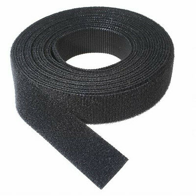 """VELCRO® Brand Reusable ONE-WRAP® Strap Double Sided 1"""" X 15ft (5 yards) Black"""
