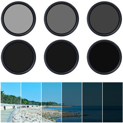 Slim 52mm Fader Variable ND Filter Neutral Density Adjustable ND2 to ND400 LF110