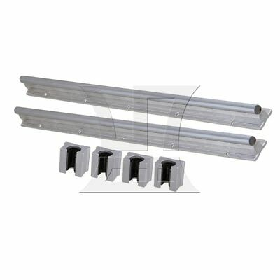50cm Linear Bearing Support Rail w/ Open Linear Bearing Slide Set of 6 Silver
