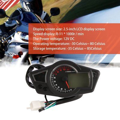 LCD Motorcycle Digital Odometer Speedometer Tachometer Fit for 2&4 Cylinders MP
