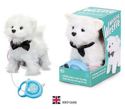 WALKING WESTIE Kids Puppy Barking Remote Control Pets Dog Pet Christmas Gift Toy