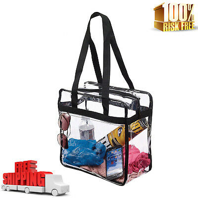 Clear Tote Bag Transparent Purse Backpack Shoulder Handbag NFL Stadium Approved