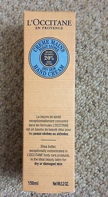L'OCCITANE 20% Shea Butter Dry Skin Hand Cream 150 mls New and BOXED!