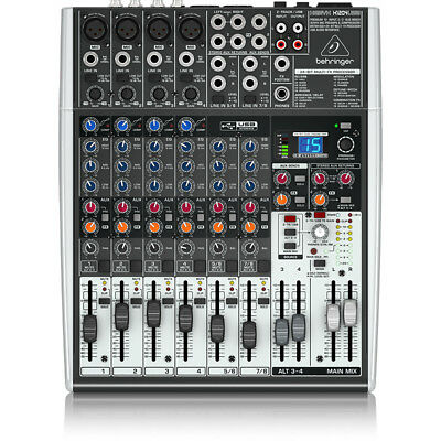 Behringer Xenyx QX1204USB 12-Input USB Audio Mixer Interface Effects Mic Preamps
