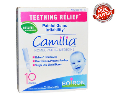 Camilia Boiron Teething Relief Homeopathic *10 Single Liquid Doses
