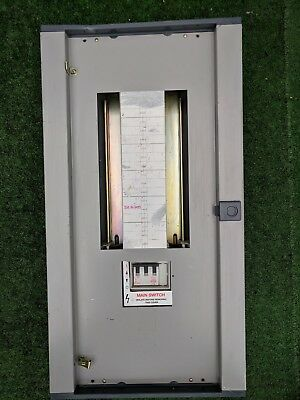 mem memshield distribution board fuse-box consumer unit 3 phase 18 way