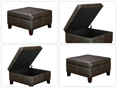 Fabulous Coffee Table With Storage Square Ottoman Foot Rest Seat Dailytribune Chair Design For Home Dailytribuneorg