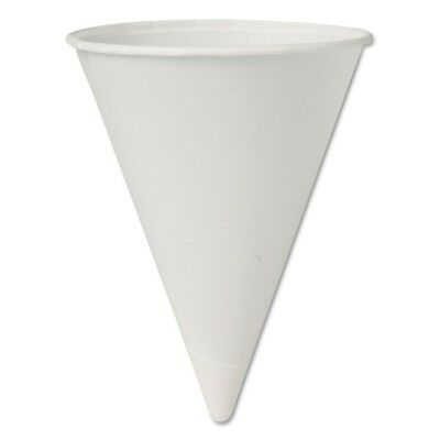 Eco-Forward Paper Cone Water Cups, 4.25oz, White, 200/Sleeve - SCC 42BR-BB