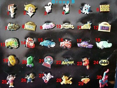 The Jetsons, High School Musical, Cars, Cartoons Shoe Charms for Crocs shoes