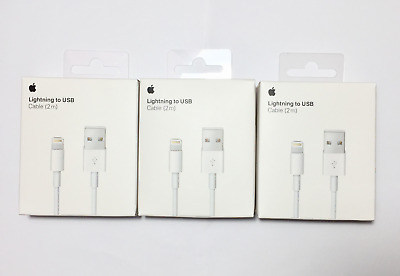 3Pack 2M6.6ft Original OEM Apple Lightning Cable USB Charger for iPhone 6 7 8 X