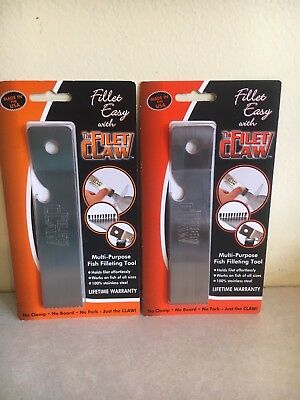 LOT of 2 FILET CLAW Fisherman's Multi-Purpose Fish Fillet Tool Skin Scale  B0103