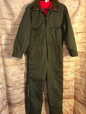 Key Imperial Green Insulted Coveralls Farm Work Play Unisex USA made