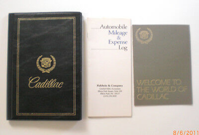 Cadillac Package - Book - Owners Manual - Gold Key Casset Tape - Golf Item  +
