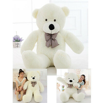 "47"" Giant Teddy Bear Huge Stuffed Plush Toy Big Cute Soft White Animal"