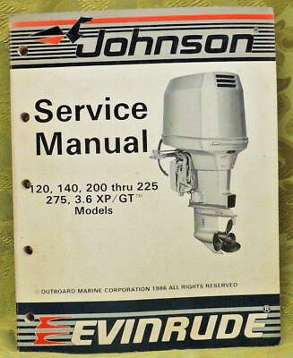 1987 Johnson Outboard Service Repair Manual 120 140 200 225 275 300 HP Evinrude