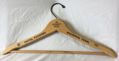 Vintage Hotel Peabody Wood Clothes Hanger - Memphis, Tennessee