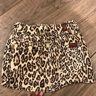 7 For All Mankind Baby Girl  Skirt  Animal Print Sz 2T