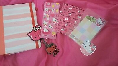 Hello Kitty Loungefly keychain + stickers + planner w/ inserts