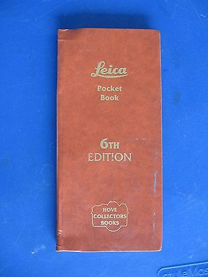 1996 HOVE Pocket Guides Booklet- LEICA Cameras Lenses 6th Ed. by Laney, 142 pg.