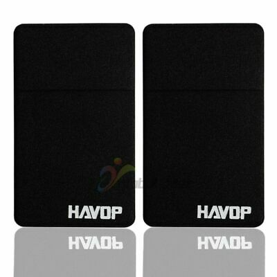 2Pcs Lycra Cell Phone Stick On Wallet Credit ID Card Holder Case Adhesive Pocket